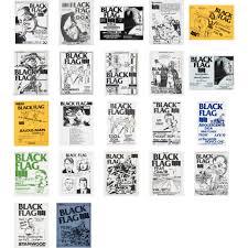 Black Flag Nervous Raymond Pettibon Black Flag Posters Set Of Twenty Two