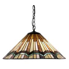 Stained Glass Pendant Light Warehouse Of Arrow 2 Light Brown Hanging L Tg70lp1