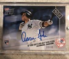 Aaron Judge Breaks Mlb Rookie Record With 50th Home Run Rolling Stone - 2017 topps now 654 aaron judge rc sets breaks rookie record 50