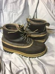 ll bean s boots size 12 ll bean vtg s size 12 heavy duty winter duck boots mud