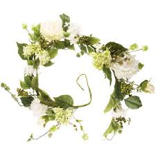 green white peony hydrangea garland hobby lobby 287367