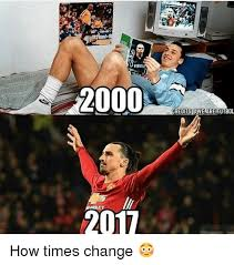 Futbol Memes - 2000 2017 credits are futbol how times change meme on me me