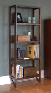 open style solid wood bookcase travis woodworking