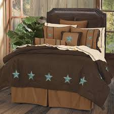 Western Duvet Covers Delectably Yours Com Laredo Turquoise Star Western Comforter Bed