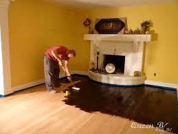 How To Refinish Laminate Floors Queen B U0026 Me How To Refinish Hardwood Floors