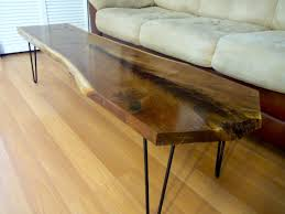 Walnut Wood Coffee Table Coffe Table Decor Ideas Edge Console Table Cut Wood