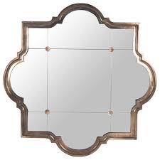 marissa quatrefoil antique bronze large mirror transitional