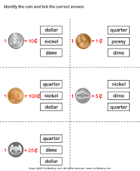 coins and their values worksheet turtle diary