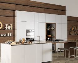 contemporary kitchen lacquered wood island forma mentis