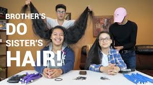 sister curls her brother hair brother s do sister s hair youtube