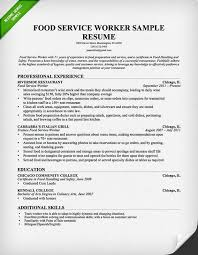 Sample Template For Resume Food Service Cover Letter Samples Resume Genius