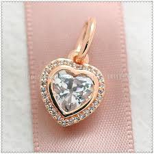gold plated silver heart bracelet images 925 sterling silver rose gold plated sparkling love pendant jpg