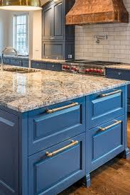 blue kitchen cabinets with granite countertops blue cabinets with granite countertops design ideas