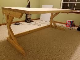 A Frame Computer Desk by Cantilevered Butcher Block Desk Album On Imgur