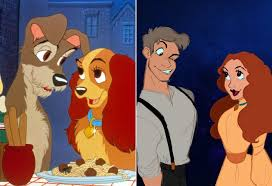 disney characters humans art popsugar love u0026