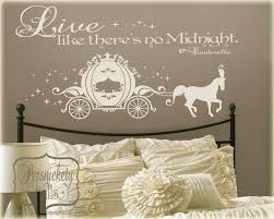 cinderella carriage vinyl wall art sticker with live like zoom