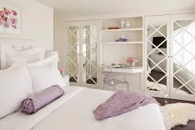 mirrored french closet doors bathroom beach with none