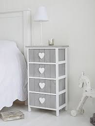 French White Bedroom Furniture by Grey And White Heart Cottage Furniture For Bedside Table Shabby