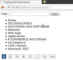 django pagination for raw query w3shaman com