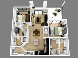 2 bedroom house plans 3d view ranch open floor plan for sq ft two