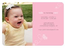 baby first birthday invitations template best template collection