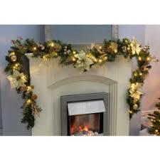 werchristmas pre lit decorated garland decoration