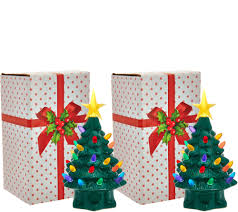 mr christmas mr christmas set of 2 7 miniature nostalgic tabletop trees