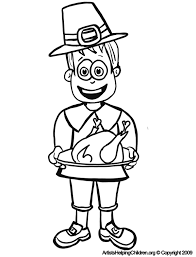 thanksgiving day coloring pages free thanksgiving pilgrim man with turkey coloring pages printouts