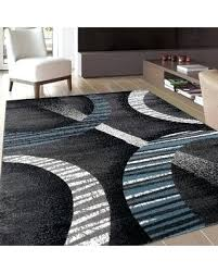 Area Rugs Contemporary Modern Black And Blue Area Rug Tapinfluence Co