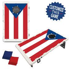Puertorican Flag Puerto Rico Flag Bean Bag Toss Game By Baggo