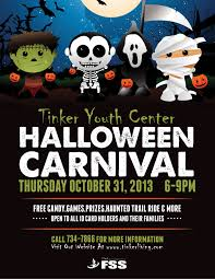 halloween background flyer kids carnival flyer template