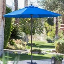 Deck Umbrella Replacement Canopy by Outdoor Blue Striped Patio Umbrella 11 Ft Square Patio Umbrella