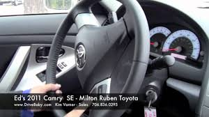 toyota camry test drive 2011 toyota camry se for ed walkaround and test drive milton