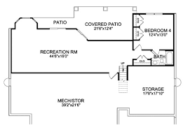 house plans with finished walkout basements craftsman ranch finished walkout basement house plans 1115