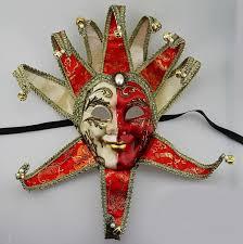 venetian jester mask luxury venetian joker masquerade mask bells