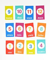 printable spanish counting flashcards creative homeschooling