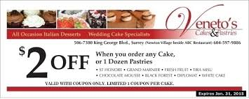 printable grocery coupons vancouver bc 2 00 off at veneto s cakes pastries grocery liquor coupons