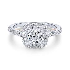 cheap princess cut engagement rings princess cut diamond halo engagement rings gabriel co