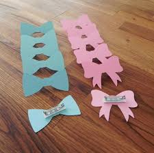 bow tie baby shower decorations party pins gender reveal baby shower die cut pink girl bows