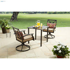 High Bistro Table Set Outdoor Patio Furniture Table And Chairs Red Swivel High Bistro Set 3