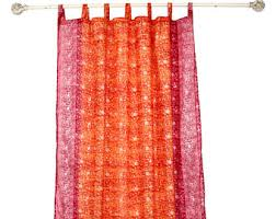 Orange Panel Curtains Orange Curtains Etsy