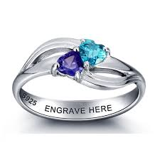 cheap engraved gifts 17 best personalized birthstone ring images on silver
