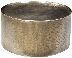 brass drum coffee table hammered steel drum coffee table urban fusion decor