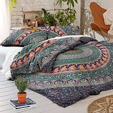 Duvet Cover Double Bed Size Nandnandini Perfect Christmas Gift Indian Mandala Duvet Cover