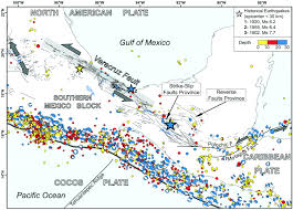 Southern Mexico Map by The Neogene Veracruz Fault Evidences For Left Lateral Slip Along