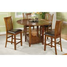 lazy susan dining table winners only zahara round counter height dining table with granite
