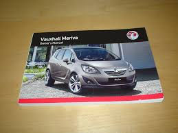 vauxhall opel meriva b owners manual handbook c w wallet 2009