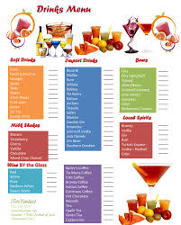drink menu template free drink menu template 5 best drink menu formats