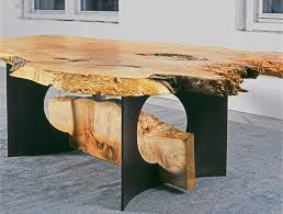 Maple Wood Furniture This Impressive Dining Table Made From A Wide Slab Of Spalted