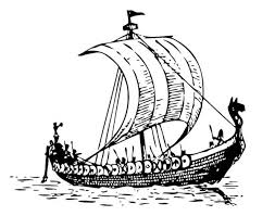 viking ship coloring page traditional south east asian pirate boat colouring page